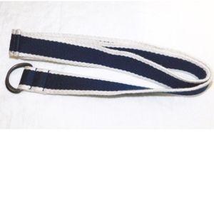 "H&M Fabric Belt Blue/White 43"" Long 561650"